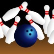 Bowling strike — Foto Stock