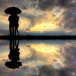 Couple in the rain - Foto de Stock  