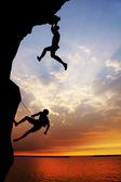 Free climber — Stock Photo