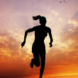 Run at sunset — Stock Photo #15796637
