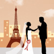 Honeymoon in Paris — Stock Photo