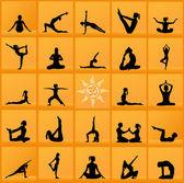 Yoga collage — Stock Photo