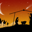 Christmas Nativity Scene — Stock Photo