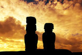 Easter Island at sunset — Stock Photo