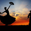 Spanish flamenco dancer — Stock Photo