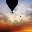 Balloon at sunset - Foto Stock