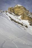 冬のドロミテ — ストック写真