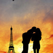 Lovers kissing in Paris — Stock Photo #18366805