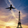 Stock Photo: Toue Eiffel at sunset