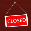 Closed sign — Stock Photo #18740123