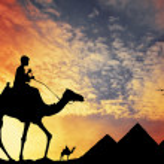 Pyramids in Egypt — Stock Photo