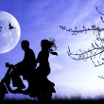 amoureux sur scooter — Photo