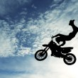 Freestyle motocross — Stock Photo