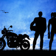 Motorcyclists — Stock Photo #19079319