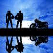 Stock Photo: Motorcyclists