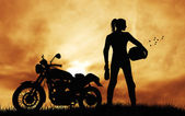 Motorcyclist — Stock Photo