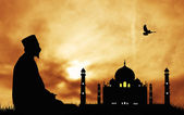 Mosque silhouette — Photo