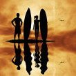 Surfers — Stock Photo