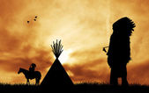 Indian tribes — Stock Photo
