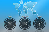 Time zones — Stock Photo