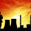 Stock Photo: Factory silhouette