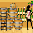 Wine barrels - Foto Stock