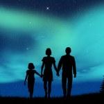 Aurora borealis — Stock Photo