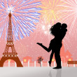 Fireworks in Paris — Stock Photo
