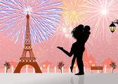 Feux d'artifice à paris — Photo