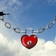 Heart lock — Stock Photo