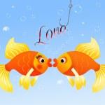 Fish in love — Stock Photo #24364787
