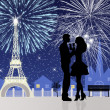 Stock Photo: New Year's Eve in Paris