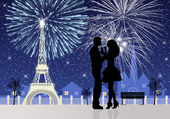 New Year's Eve in Paris — Stock Photo