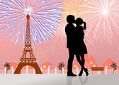 New Year's Eve in Paris — Stockfoto