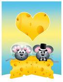 Wedding mice — Stock Photo