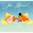 Wedding fishes — Stock Photo