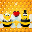 Stock Photo: Bees in love