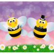 Wedding bees — Stock Photo