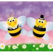 Stock Photo: Wedding bees