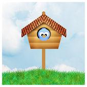 Dom ptaków — Zdjęcie stockowe