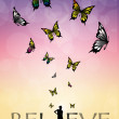 Foto de Stock  : Believe written
