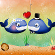 Whales in love — Stock Photo
