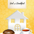 Royalty-Free Stock Photo: Bed and breakfast