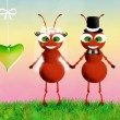Ants in love — Foto Stock