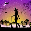 Witch on Halloween — Stock Photo #25751631