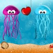 Jellyfishes — Stock Photo