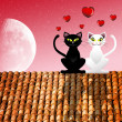 Stock Photo: Cats in love