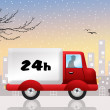 Delivery in 24h — Stock Photo
