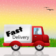 Stock Photo: Fast delivery