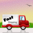 Fast shipping — Stock Photo #26626339